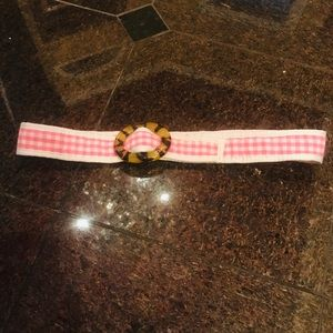 🏝Lilly Pulitzer pink and tortoise shell belt